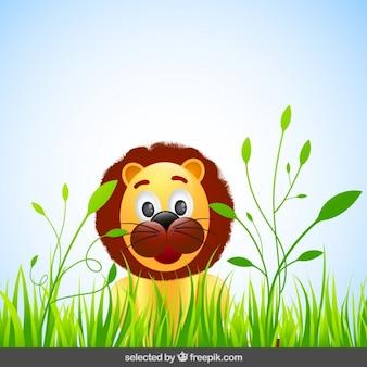 Drôle de bande dessinée de lion