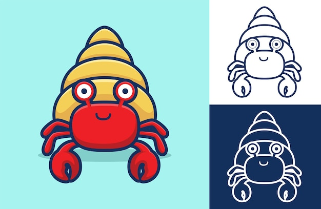 Drôle de crabe ermite souriant.