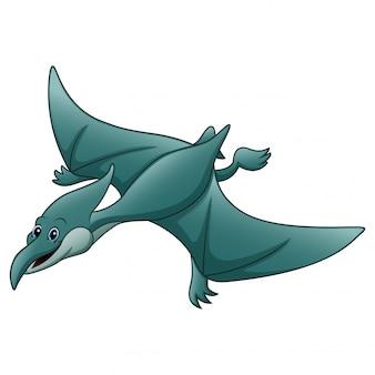 Drôle un dessin animé animal ptérodactyle