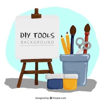 Drôle de fond sur les outils d'artisanat