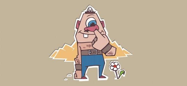 Drôle personnage de dessin animé monstre