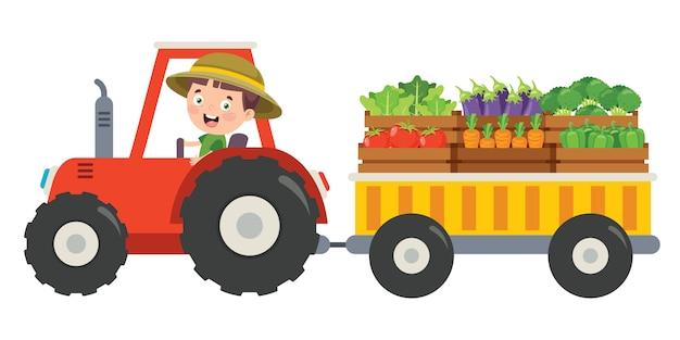 Drôle de petit tracteur équestre