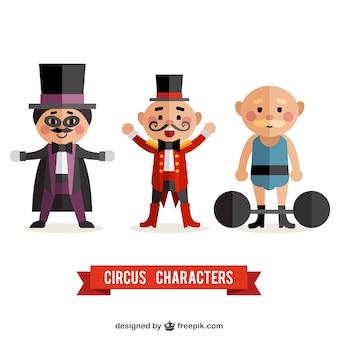 Drôles de personnages de cirque