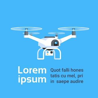 Drone aérien à distance avec caméra prenant des photos ou des enregistrements vidéo