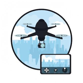 Drone dans la ville
