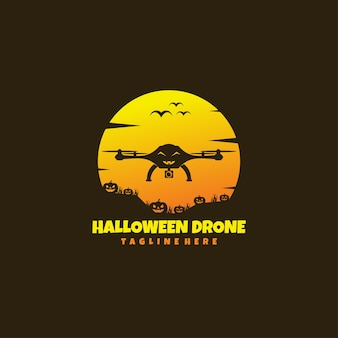 Drone d'halloween sombre