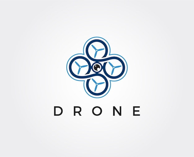 Drone logo modèle icône photographie drone quadcopter icône vecteur