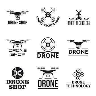 Drone logo set