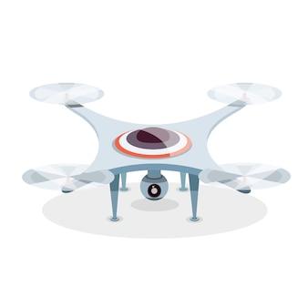 Drone professionnel avec caméra d'action créé vidéo et photo. photographe-hélicoptère, quadcopter, multicopter.