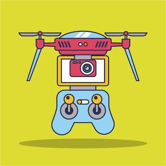 Drone quadcopter avec télécommande
