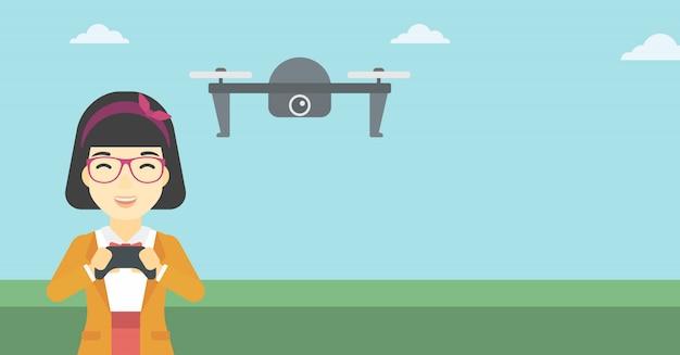 Drone volant femme