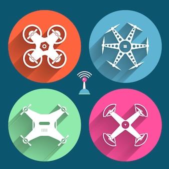 Drones d'objets vectoriels