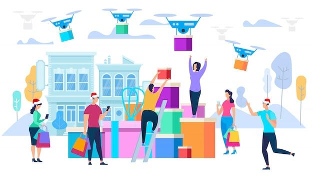 Les drones portent les achats aux consommateurs