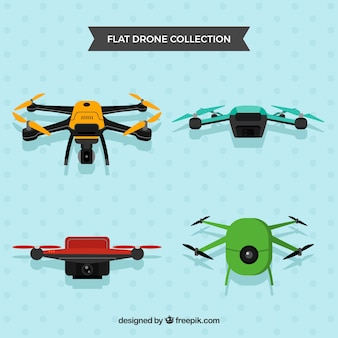 Des drones professionnels avec caméras