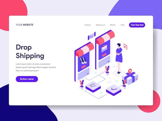 Drop shipping illustration isométrique