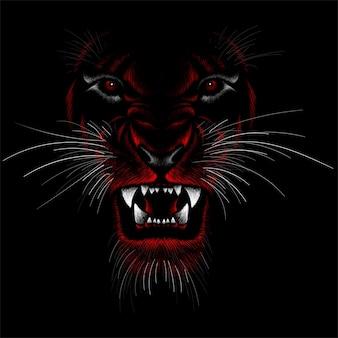 Le drowing à la main de liones.