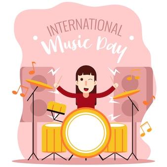 Drummer girl internationale de la musique