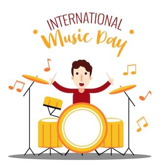 Drummer journée internationale de la musique