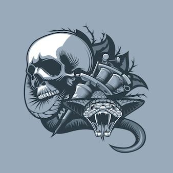 Du crâne vient une vipère dangereuse