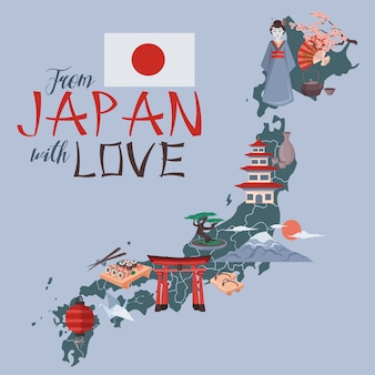 Du japon avec illustration d'amour
