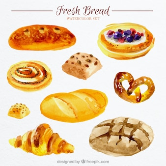 Du pain frais à l'aquarelle