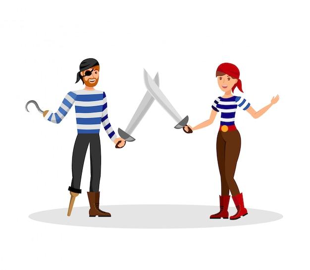 Duel d'épées corsaires