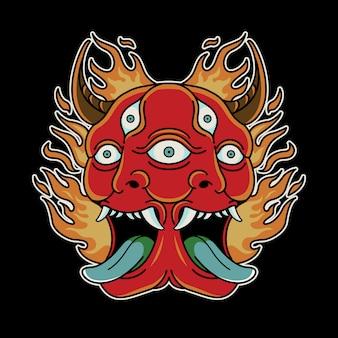 Duo devil vintage tattoo rétro