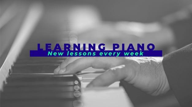 Duotone apprenant le piano en ligne sur l'art de la chaîne youtube