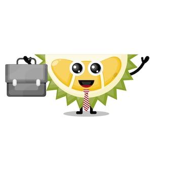 Durian travaille la mascotte de personnage mignon