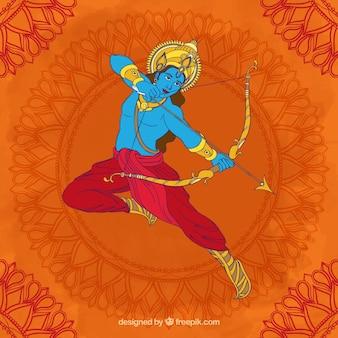 Dussehra fond avec archer