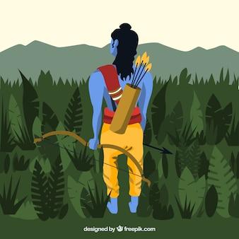 Dussehra fond dans la nature