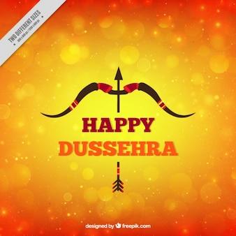 Dussehra fond avec flèche