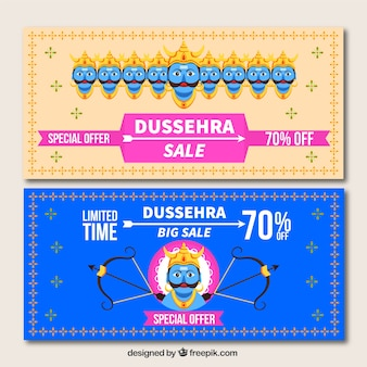 Dussehra vente bannières