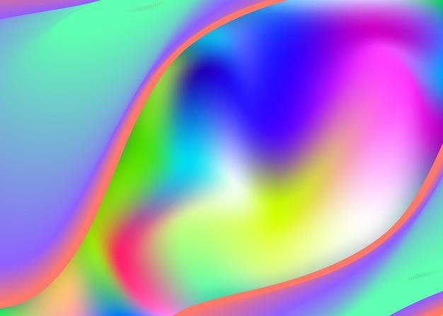 Dynamique des fluides. invitation minimale, conception de la couverture. maille dégradée vive. toile de fond holographique 3d avec mélange tendance moderne. fond dynamique fluide avec des formes et des éléments liquides.
