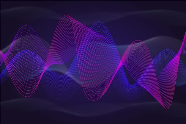 Dynamique de fond violet et bleu ondulé