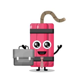 Dynamite fonctionne mascotte de personnage mignon