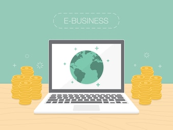 E-business de conception de fond