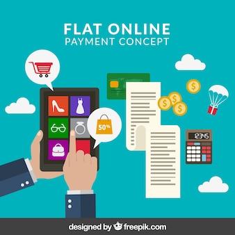 E-commerce, concept de paiement en ligne