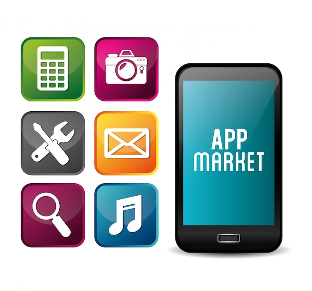 E-commerce et conception d'applications mobiles de marché.