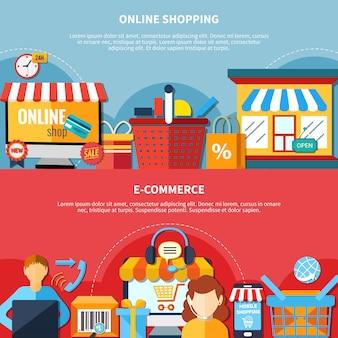 E-commerce flyer set