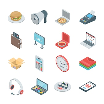 E commerce icons set