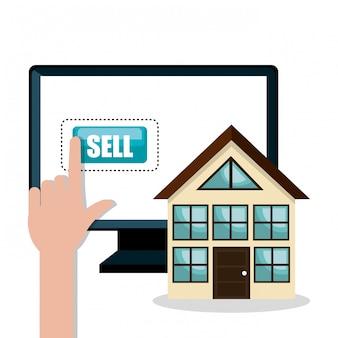 E-commerce informatique acheter marché isolé