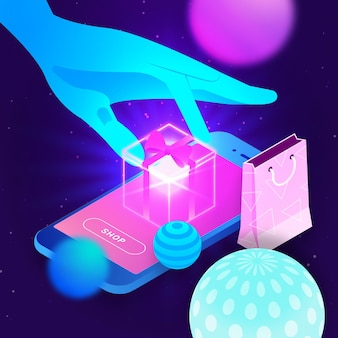 E-commerce isométrique - concept