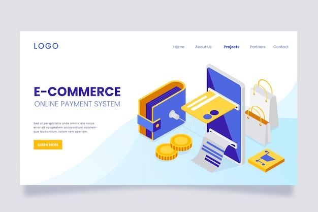 E-commerce isométrique