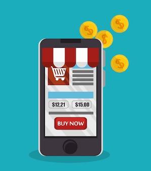 E-commerce smartphone boutique en ligne design