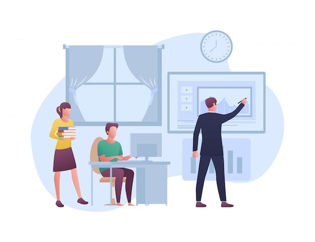 E - illustration du concept d'apprentissage