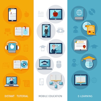 E-learning banners vertical