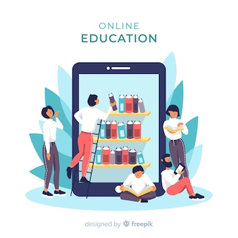 E-learning concept fond plat