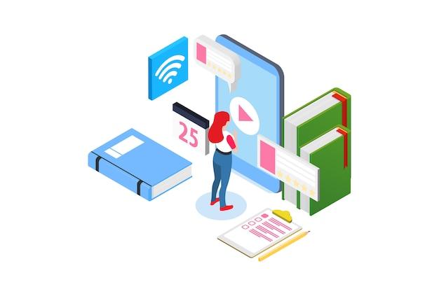 E-learning intelligent isométrique moderne