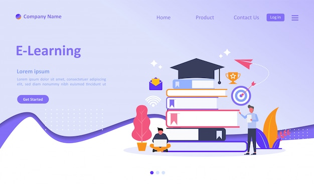 E-learning landing page